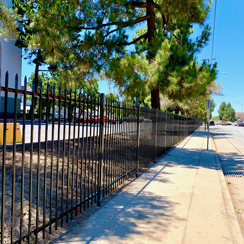 Wrought Iron Fence W- Pinched pickets